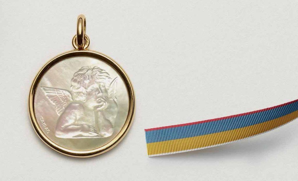médaille de baptême ange - ARTHUS BERTRAND